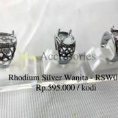 Rhodium Silver Wanita - RSW01