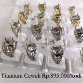 Ring Cincin Titanium Wanita (Habis)