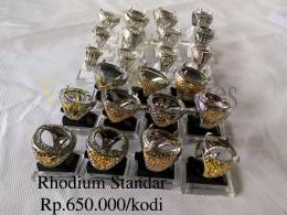 Ring cincin rhodium