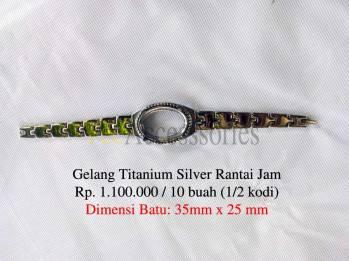 Gelang akik titanium rantai jam