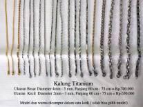 Koleksi Kalung Titanium