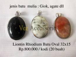 Liontin Rhodium Batu Mulia