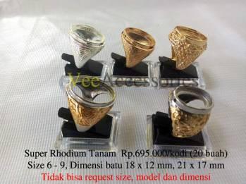 Super Rhodium Tanam Mata Standar