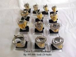 Ring cincin titanium kombinasi