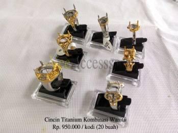 Ring cincin Wanita titanium kombinasi