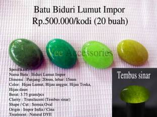 Batu Biduri Lumut Impor Rp.500.000/kodi (20 buah)