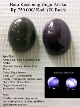 Batu Kecubung Ungu Afrika Rp.750.000/ Kodi (20 Buah)