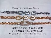 Gelang Xuping Gold 3 Mata Rp.1.200.000/kodi