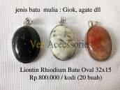 Liontin Rhodium batu oval 32x15 Rp.800.000/kodi