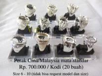Perak Cina/Malaysia mata standar Rp.700.000/kodi