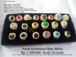 Perak Kombinasi Batu Mulia Rp.1.500.000/kodi