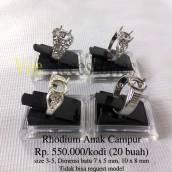 Rhodium Anak campur Rp.250.000/kodi