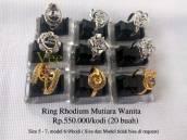 Ring Rhodium Mutiara Wanita Rp.450.000/kodi
