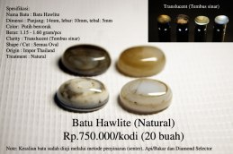 Batu Hawlite (Natural) Rp.750.000/kodi (20 buah)