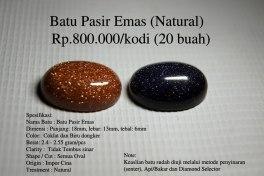 Batu Pasir Emas (Natural) Rp.800.000/kodi (20 buah)