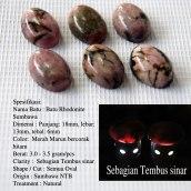 Batu Rhodonite Sumbawa 18x13 (Natural) Rp.600.000/10 buah