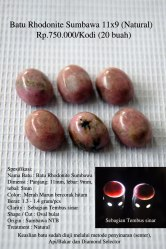 Batu Rhodonite Sumbawa 11x9 (Natural) Rp.750.000/Kodi (20 buah)