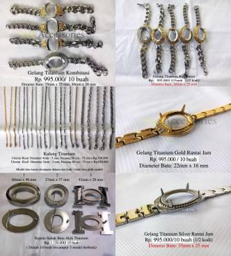 Koleksi Gelang, Liontin dan Kalung Titanium