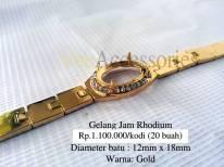 Gelang jam Rhodium Rp.1.100.000/kodi