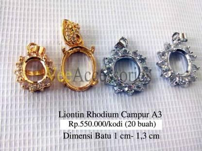 Liontin Campur Rhodium A3 Rp.550.000/kodi