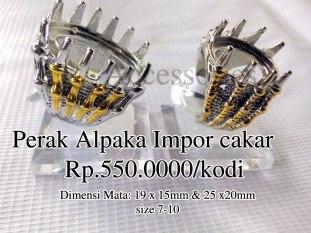 Perak Alpaka Impor cakar Rp.550.0000/kodi