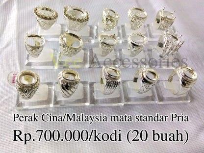 Perak Cina/Malaysia mata standar pria Rp.700.000/kodi