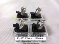 Rhodium Anak campur Rp.450.000/kodi