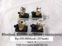 Rhodium Kombinasi Bisex (wanita/pria) Rp.450.000/kodi