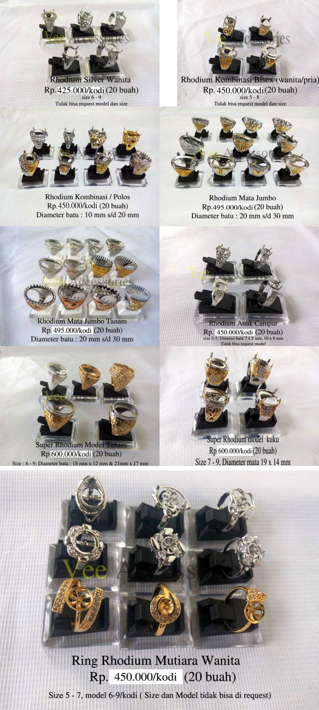 Koleksi Ring Rhodium Promo