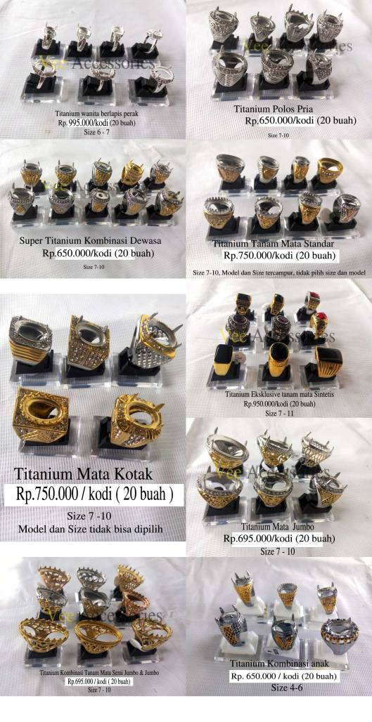 Koleksi ring titanium