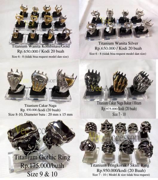 Koleksi Ring Titanium Promo