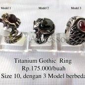 Titanium Gothic Ring Rp.175.000/buah