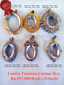 Liontin Titanium campur size Rp.895.000/kodi