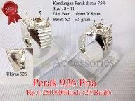 Perak 926 Pria Rp.1.250.000/kodi Kandungan Perak diatas 75% Size : 8 - 11 Dim Batu : 10mm X 8mm Berat: 5,5 - 6.5 gram