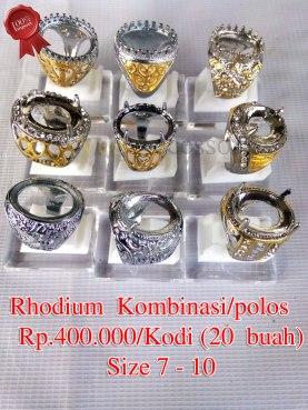 Rhodium Kombinasi/polos Rp.400.000/kodi