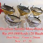 Rhodium Jumbo Mata Pandan Rp.495.000/kodi (20 Buah)