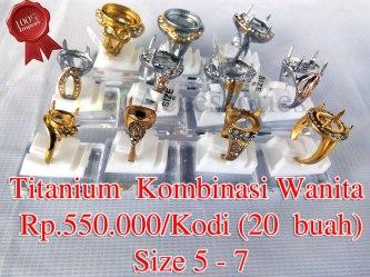 Titanium Wanita Kombinasi/Gold Rp.550.000/kodi