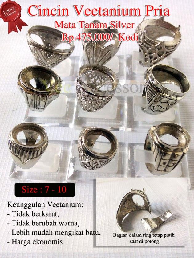 Cincin Veetanium Pria mata tanam silverRp.475.000/ Kodi