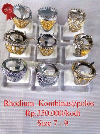 Rhodium Kombinasi/polos Rp.250.000/kodi