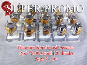 Super Titanium Kombinasi dewasa Rp.375.000/kodi