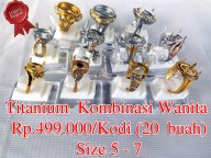 Titanium Wanita Kombinasi/Gold Rp.499.000/kodi