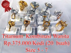 Titanium Wanita Kombinasi/Gold Rp.375.000/kodi