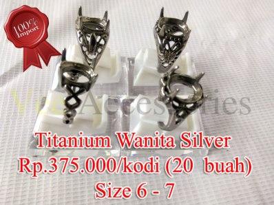 Titanium Wanita silver Rp.375.000/kodi