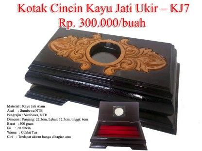 Kotak Cincin Kayu Jati Ukir – KJ7