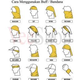 Cara Menggunakan buff bandana multifungsi
