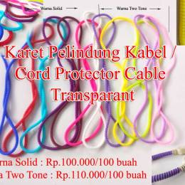 Karet Pelindung Kabel / Cord Protector Cable Transparant