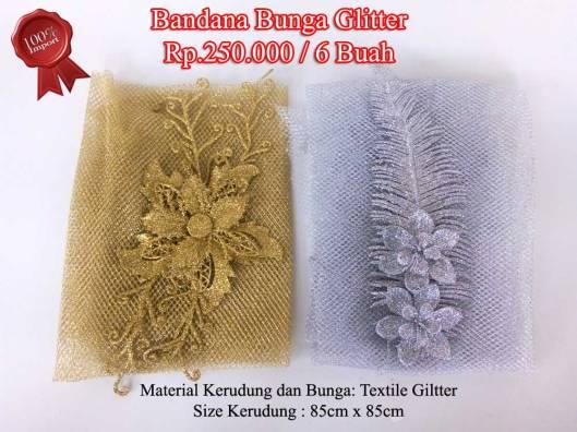 Bandana Bunga Glitter