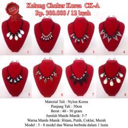 Kalung Choker Korea CK-A Rp.300.000/lusin (12 buah)